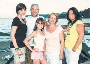 Петр Галкин с семьей